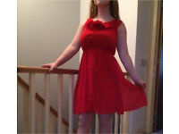 Red floral dress- Monsoon