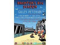 Giles Peterson Brighton Beach Ticket For Sale