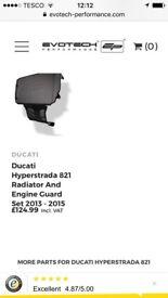 DUCATI HYPERSTRADA 821 RADIATOR AND ENGINE GUARD SET
