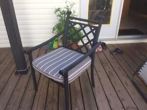 Patio chairs and lounger