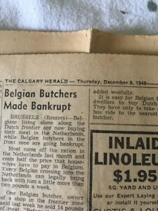 1949 The Calgary Herald news papers