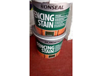 Ronseal fence and shed paint, forest green