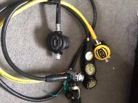 Apex XTX50 Regulator, XTX50 Octopus, Uwatec 3 gauge console