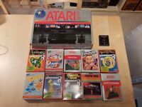 Boxed Atari 2600 and games in very good condition