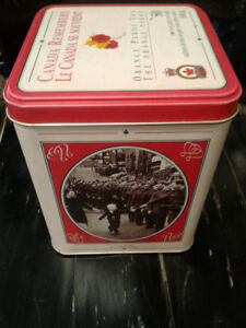 G.E. Barbour 1945 - 1995 Canada Remembers Orange Pekoe Tea Tin