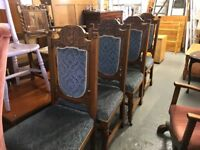 FOUR VICTORIAN DINING CHAIRS IDEAL TO REUPHOLSTER