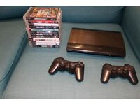 PLAYSTATION 3 SUPER SLIM 500GB PS3 + GAMES + 2 CONTROLLERS + HDMI