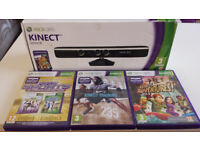 Xbox 360 Kinect sensor, fully boxed with Nike+ Personal Trainer, and Kinect Sports and Adventures
