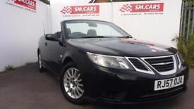 2007 57 SAAB 93 1.9 TiD LINEAR SE CONVERTIBLE IN BLACK.NEW CLUTCH AND FLYWHEEL .