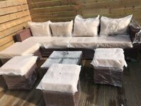 Rattan Outdoor Garden Furniture Sets Yakoe Papaver - Delivery Available