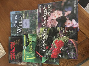 Collection of landscaping & gardening books