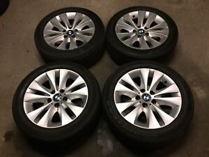 """2006 BMW 5 Series E60 17"""" OEM Wheels and Tires Amazing Condition"""