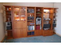 Large wooden living room unit in excellent condition