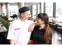 Chef de Partie + fresh Italian food + training + great pay + service charge