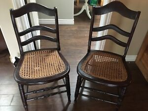 2 antique wooden chairs $50 OBO