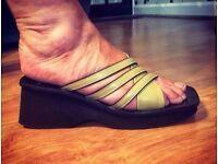 Marc O'Polo Mustard Raised Heel Sandals - Size 5 - Brand New