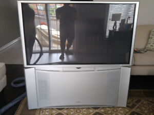 """Hitachi 52"""" HD Rear Projection TV with built in Cabnet"""