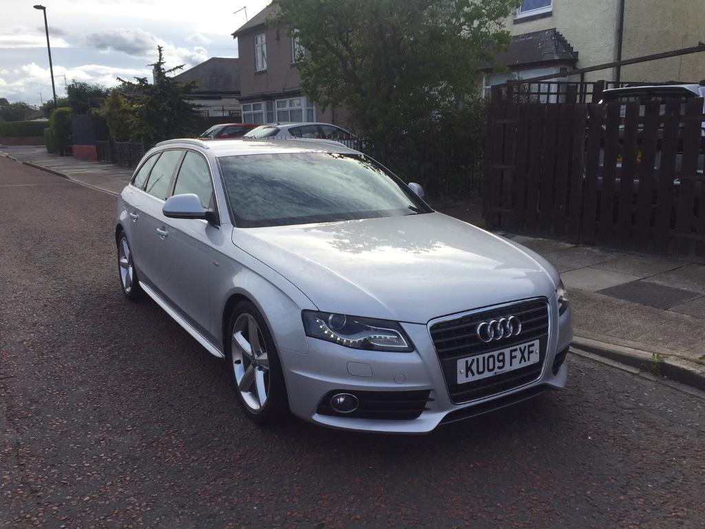 2009 audi a4 b8 2 0 tdi sline avant silver in wallsend. Black Bedroom Furniture Sets. Home Design Ideas