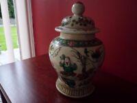 18TH CENTURY CHINESE KANGXI-PERIOD FAMILLE VERTE GINGER JAR. CIRCA 1720