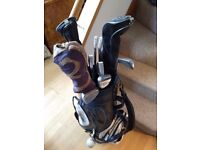 Letters Golf Bag. Complete set Dunlop clubs & 3 wooden drivers.