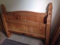 Double bed frame - solid wood