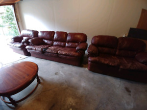 Sofas and coffee table set for sale!