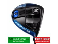 New Cobra F6 KING Driver Blue (Adjustable 9-12 Degs) Reg Flex RH £169 Including Next Day Delivery