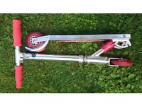 Children's Folding Scooter Silver/Red