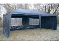 Blue 6m x 3m gazebo marquee - wind bars included - used once - party tent