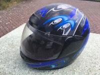 8 x class B FM crash helmets (Assorted sizes)