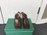 Clarks brown wedge sandals
