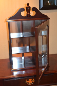 reproduction mini curio cabinet