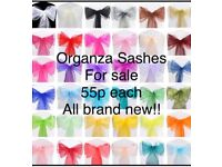 Organza sash