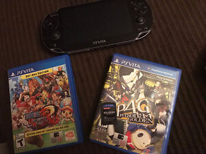 PS vita with 2 Games for $200