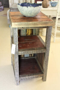 RUSTIC NIGHT TABLES, SIDE TABLES, TALL, HANDCRAFTED