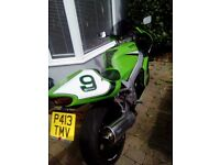 Zx750 1years mot still looks good for a 20 year old classic in the best colour