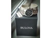Gents Bulova Steel Chronograph Watch