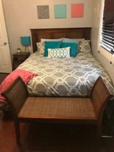 "Pier 1 ""Pyramid"" Solid Wood Bedroom Set for Sale"