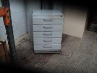 5 Drawer lockable metal cabinet