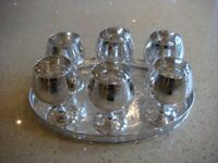 SILVER PLATE SIX BRANDY GLASSES AND OTHER ITEMS IN EXCELLENT CONDITION