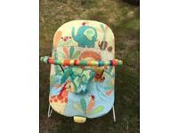Baby chair rocker bouncer bright stars