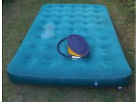 Inflatable Double Bed with foot pump/Croydon/Surrey/London/Camping/Spare bed