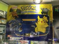 Pokémon pikachu Nintendo 64 boxed console retro gaming
