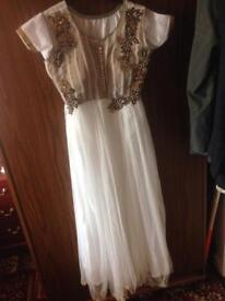Stunning Indian white frock