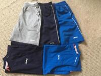 Boys slazenger bundle 3 pairs of shorts and 2 vest tops blue and black in colour. Great condition
