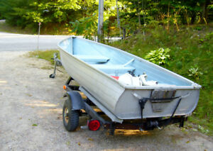 Fishing boat and 4 1/2 motor