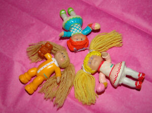 "Vintage 1984 Cabbage Patch Kids Mini  4"" Dolls. Lot of 3."