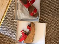 Michael kors leather wedges size 5 brand new
