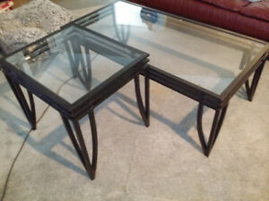 Set of 1 coffee table, 2 matching side tables $125 OBO