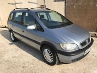 Vauxhall Zafira 1.8 Design *7 Seater* Service History Air Con, 3 Month Warranty